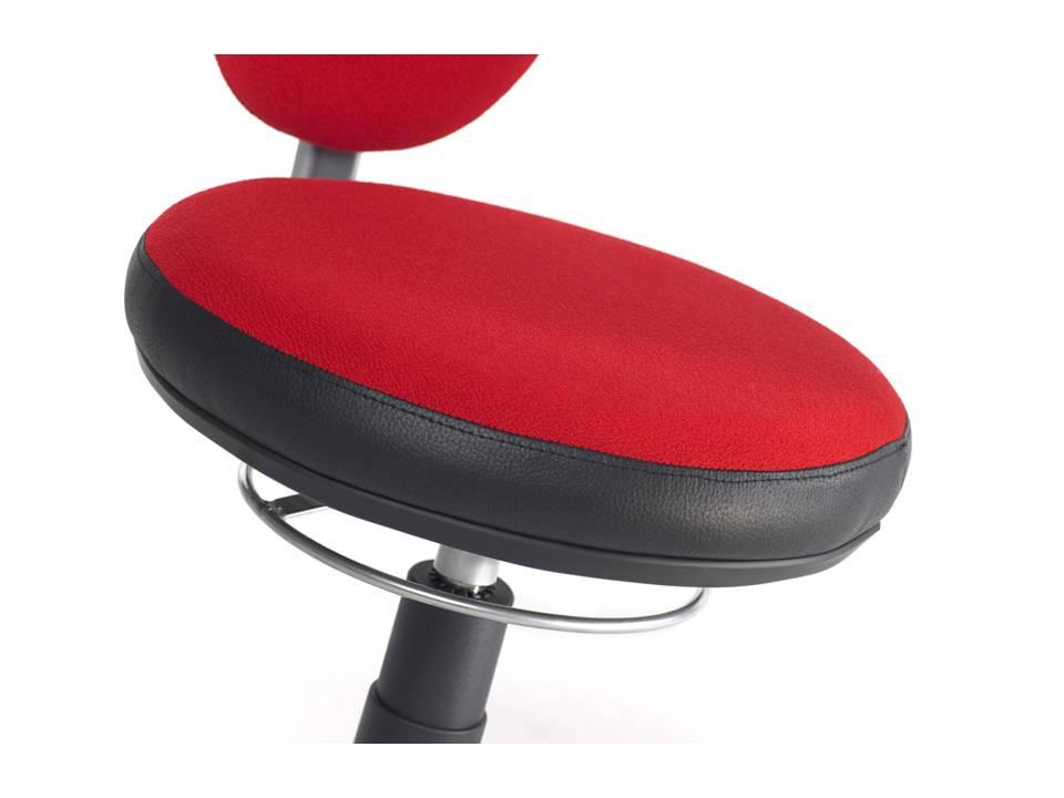 mayer erzieherstuhl torro sit 1251 rot schwarz stoff art office shop. Black Bedroom Furniture Sets. Home Design Ideas