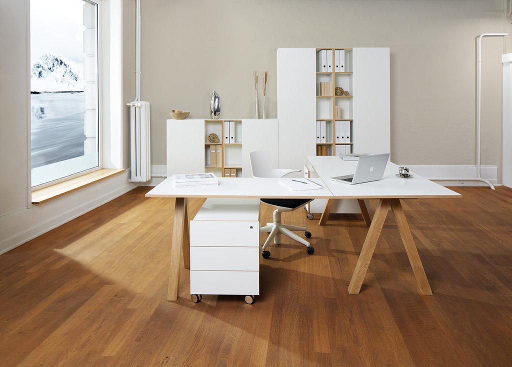 Reinhard oslo Schreibtisch 1600 weiß - Art & Office Shop
