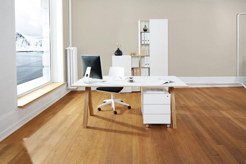 Reinhard oslo Schreibtisch 1600 weiß  Art & Office Shop
