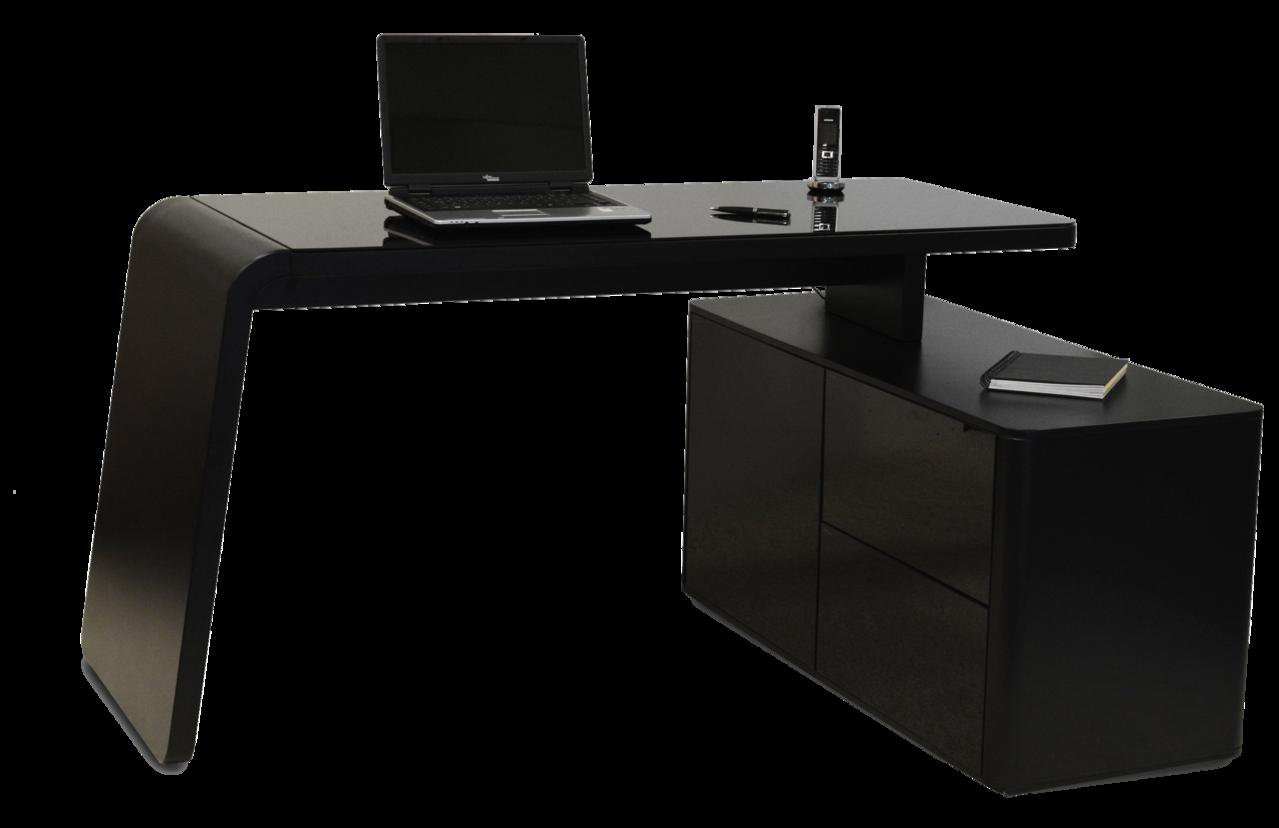Jahnke csl 465 e schreibtisch schwarz art office shop for Schreibtisch hochglanz schwarz