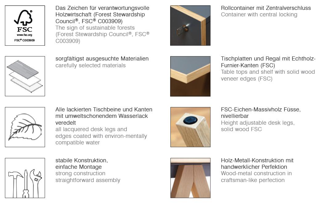 Reinhard oslo Büromöbel 3er Set - Art & Office Shop
