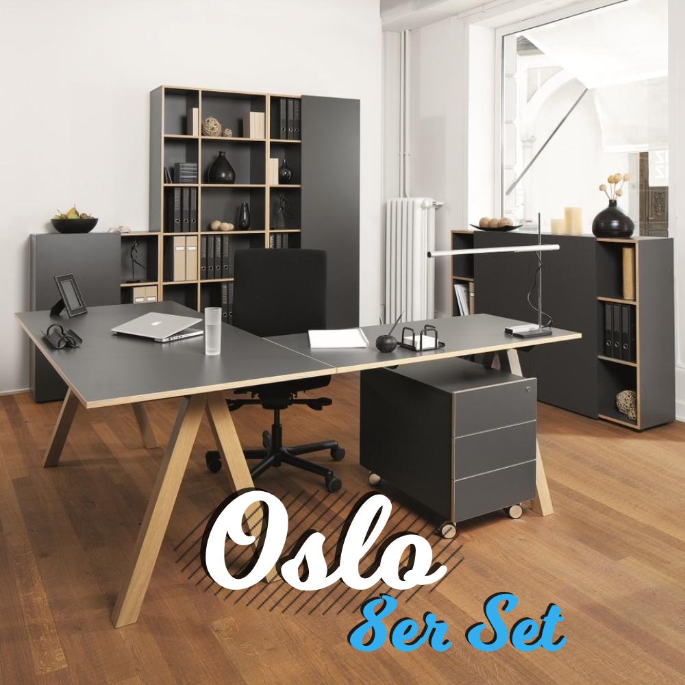 Reinhard oslo Büromöbel 8er Set - Art & Office Shop