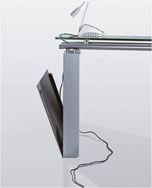 Exclusive Schreibtisch 1800 satiniert - Art & Office Shop